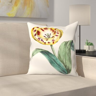 American Flora Wildtulip Throw Pillow Size: 18 x 18