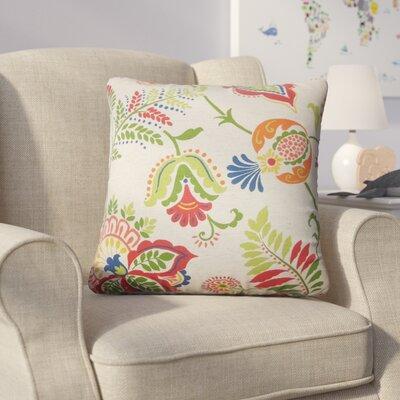 Calla Floral Cotton Throw Pillow Color: Green