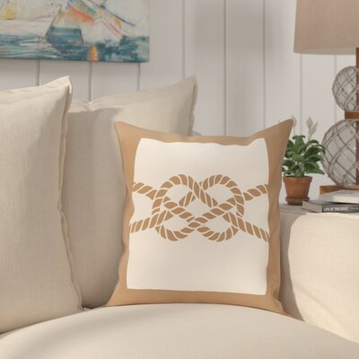 Hancock Nautical Knot Geometric Throw Pillow Size: 18 H x 18 W, Color: Beige/Taupe