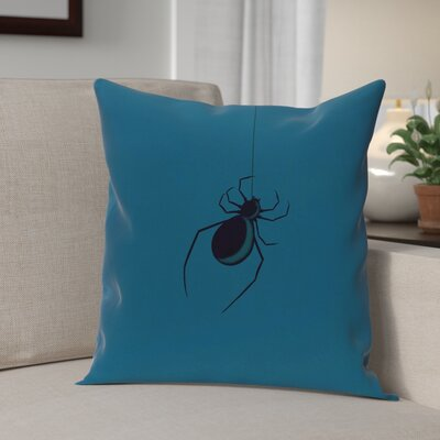 Eeek! Holiday Print Throw Pillow Size: 18 H x 18 W, Color: Teal