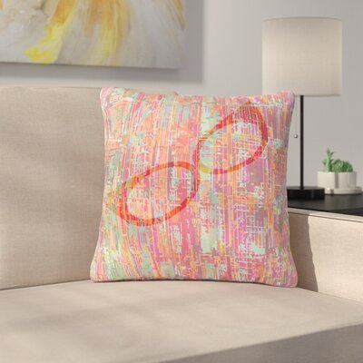 Bridgette Burton Retro Graffiti Vintage Outdoor Throw Pillow Size: 16 H x 16 W x 5 D