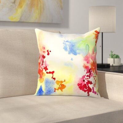 Abstract Blooms Throw Pillow Size: 20 x 20