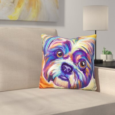 Shih Tzu Lacey Throw Pillow