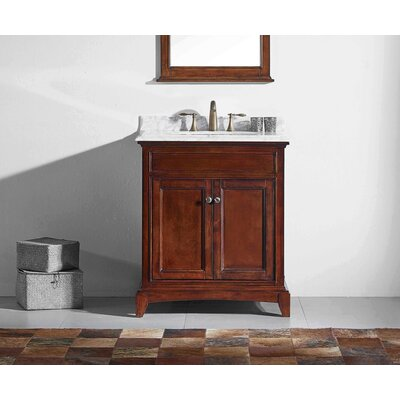 Strickland Solid Wood 30 Single Bathroom Vanity Set