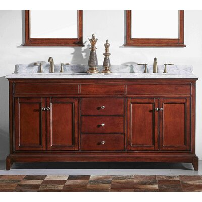 Strickland Solid Wood 60 Double Bathroom Vanity Set