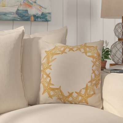 Huong Decorative Holiday Geometric Print Throw Pillow Size: 18 H x 18 W, Color: Gold