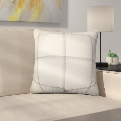 Rucker Plaid Cotton Throw Pillow Color: Gray