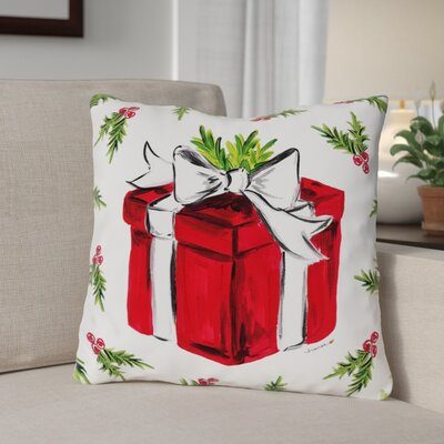 Special Gift Throw Pillow Size: 16