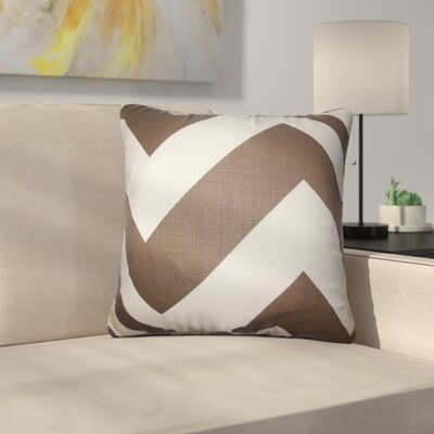 Sullivan Zigzag Cotton Throw Pillow Color: Brown