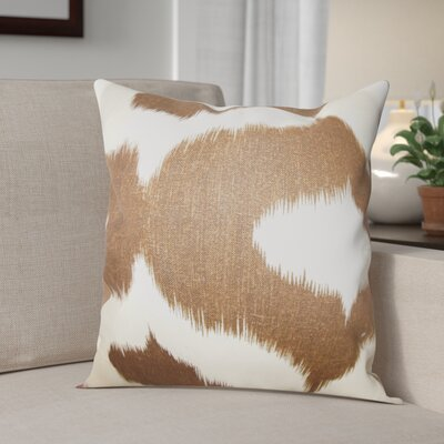 Otter Creek Throw Pillow Color: Brown, Size: 18 H x 18 W