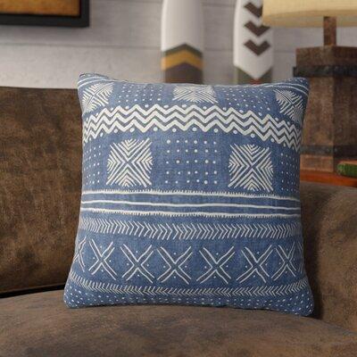 Couturier Throw Pillow Color: Indigo, Size: 18 H x 18 W