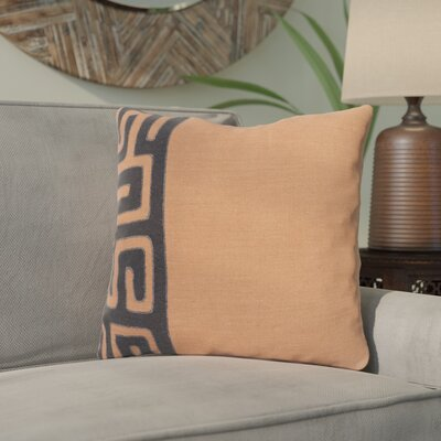 Kreta Linen Throw Pillow Size: 22 H x 22 W x 4 D, Color: Rust/Black