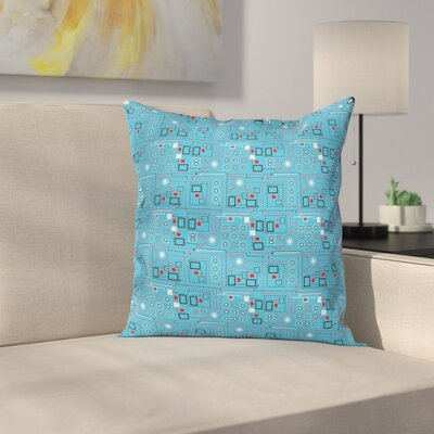 Geometrical Pillow Cover Size: 16 x 16