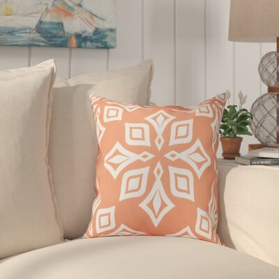 Cedarville Star Geometric Print Throw Pillow Size: 18 H x 18 W, Color: Coral