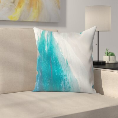 Luke Gram Ocean Gradient Throw Pillow Size: 18 x 18