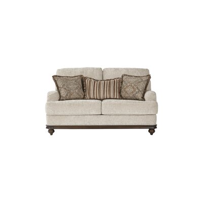 Hovis Loveseat Upholstery: Light Almond
