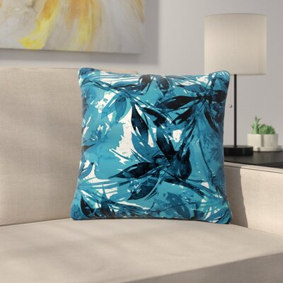 Floral Fiesta Throw Pillow Size: 26 H x 26 W x 7 D, Color: Blue