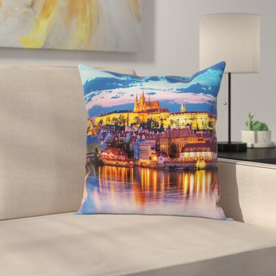 Travel Decor Evening Pillow Cover Size: 18 x 18