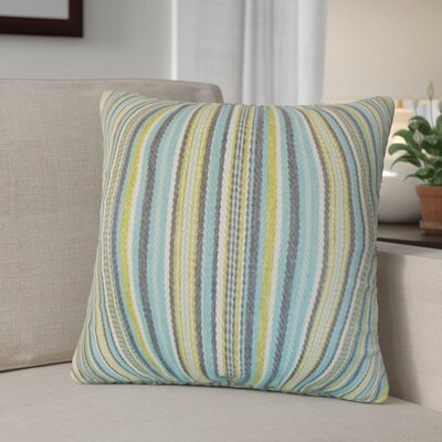 Zelin Stripes Throw Pillow Color: Aqua