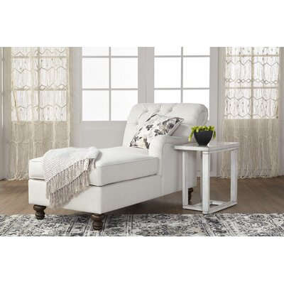 Meade Chaise Lounge Upholstery: White