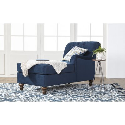 Meade Chaise Lounge Upholstery: Indigo