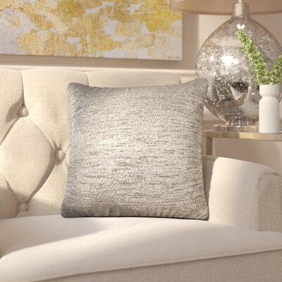 Alas Throw Pillow Size: 16 H x 16 W x 4 D, Color: Zinc