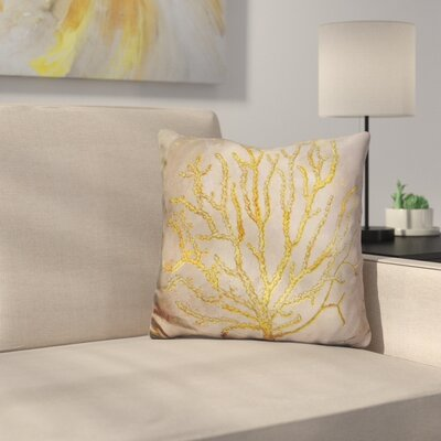 Coral Throw Pillow Color: Brown