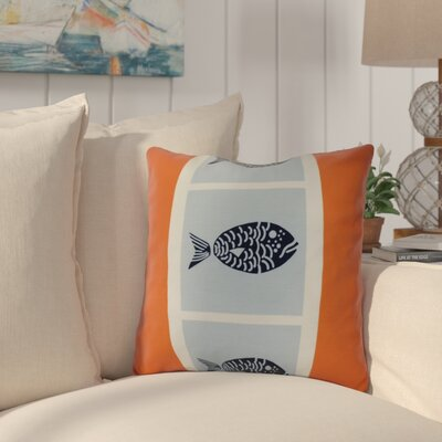 Bartow Fish Chips Outdoor Throw Pillow Size: 20 H x 20 W x 3 D, Color: Orange