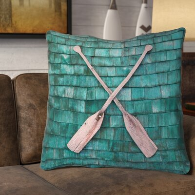 Brushton Rustic Oars Square Euro Pillow