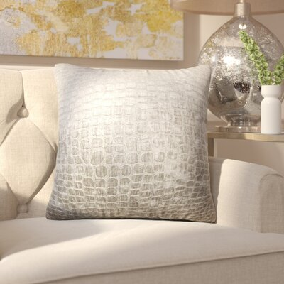 Chaim Solid Throw Pillow Color: Silver