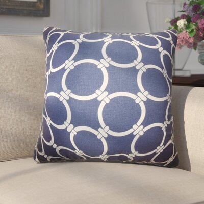 Donatella Geometric Cotton Throw Pillow Color: Blue