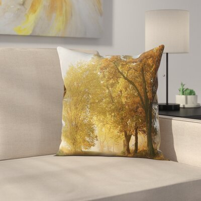 Fall Decor Autumn Morning Square Pillow Cover Size: 16 x 16