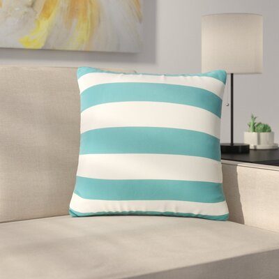 Mayle Square Striped Indoor/Outdoor Throw Pillow Color: Dark Teal