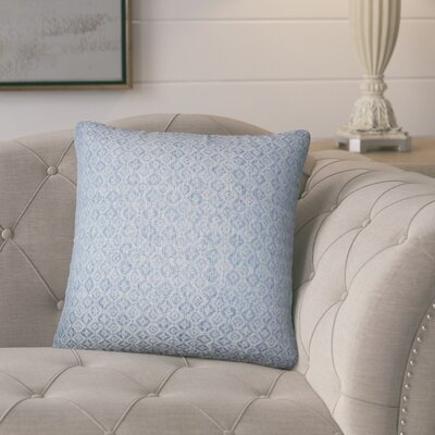 Polytric Solid Throw Pillow Color: Chambray
