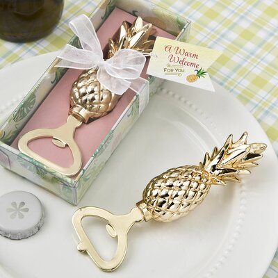Dreshertown Pineapple Theme Bottle Opener Favor (Set of 12)
