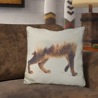 Leonidas the Lynx Norwegian Woods Throw Pillow
