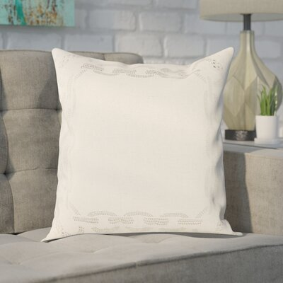 Melgoza Paisley Cotton Throw Pillow Size: 18 x 18, Color: Cement