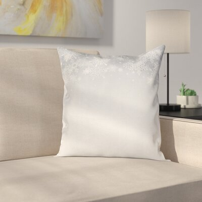 Christmas Snowflake Figures Square Pillow Cover Size: 24 x 24