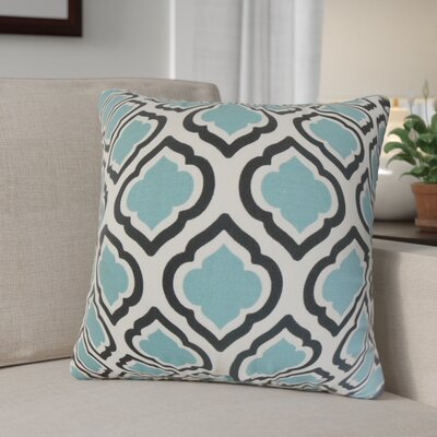 Maryclaire Geometric Cotton Throw Pillow Color: Blue