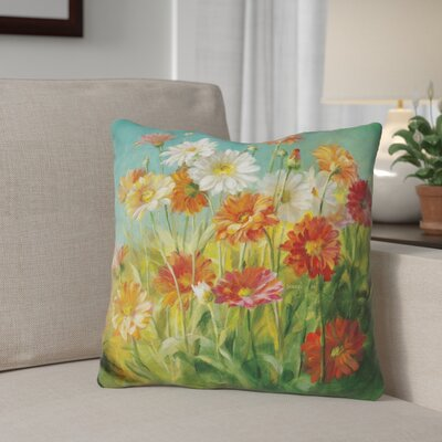 Giuliani Painted Daisies Throw Pillow