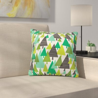 Heather Dutton Winter Woods Throw Pillow Size: 16 x 16