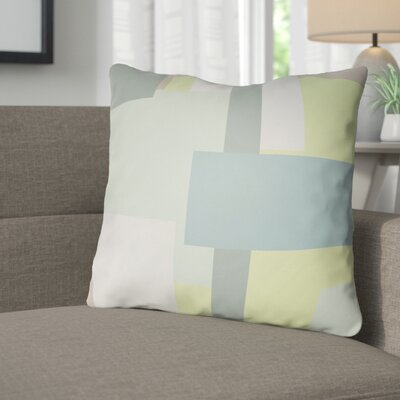 Wakefield Throw Pillow Size: 18 H x 18 W x 4 D, Color: Teal / Grey / Mint