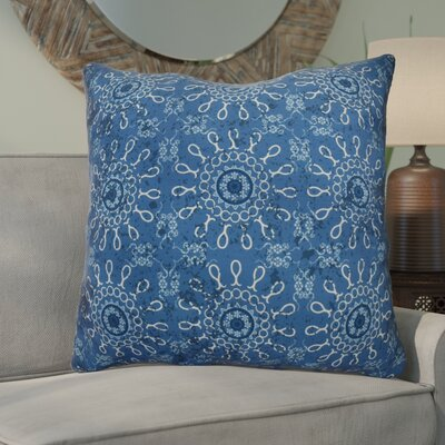 Clarence Geometric Euro Pillow Color: Blue