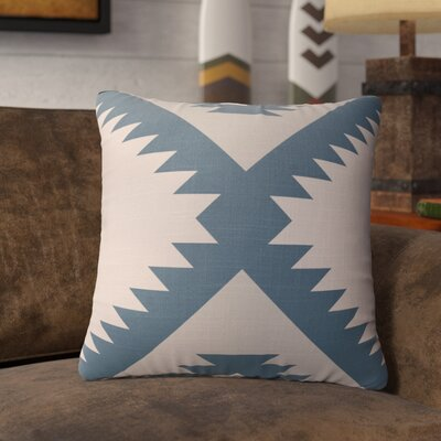 Levering Throw Pillow Size: 16 x 16, Color: Tan/Blue/Gray