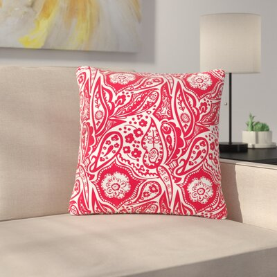 Agnes Schugardt Paisley Paisley Outdoor Throw Pillow Size: 18 H x 18 W x 5 D