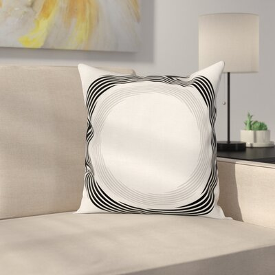 Abstract Art Theme Square Pillow Cover Size: 18 x 18