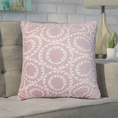 Gamache Geometric Cotton Throw Pillow Color: Purple