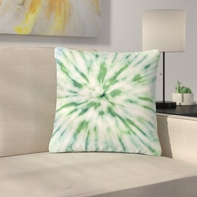 Nika Martinez Spring Tie Dye Outdoor Throw Pillow Color: Green, Size: 18