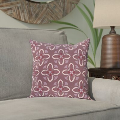 Katrina Throw Pillow Size: 16 H x 16 W, Color: Purple / Pink