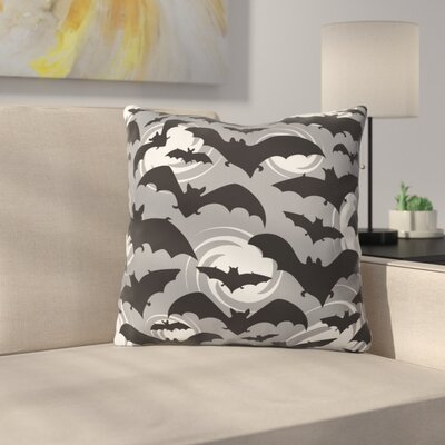 Night Watch Throw Pillow Size: 26 H x 26 W x 7 D, Color: Gray